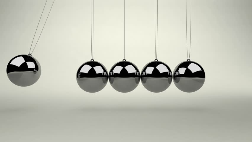 Newton's Cradle With Planets Stock Footage Video 8120005 ...