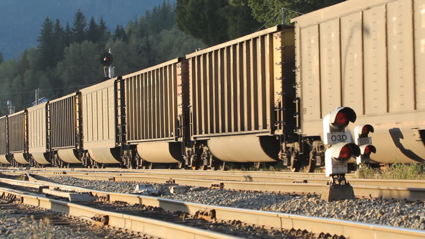 REVELSTOKE, CANADA on SEPT 15th: CPR train on Sept 15th, 2014 in Revelstoke, Canada. Headquartered in Calgary it owns approximately 14,000 miles (22,500 km) of track in Canada and the United States.