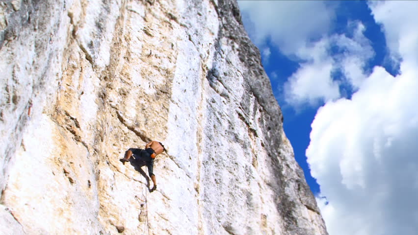 Rock Climber - HD stock video clip