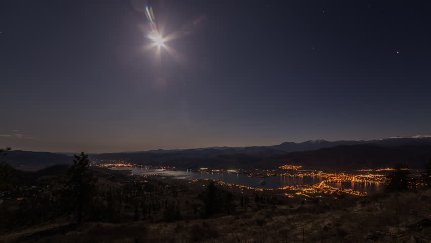 Time lapse of moon eclipse in Osoyoos, British Columbia, Canada