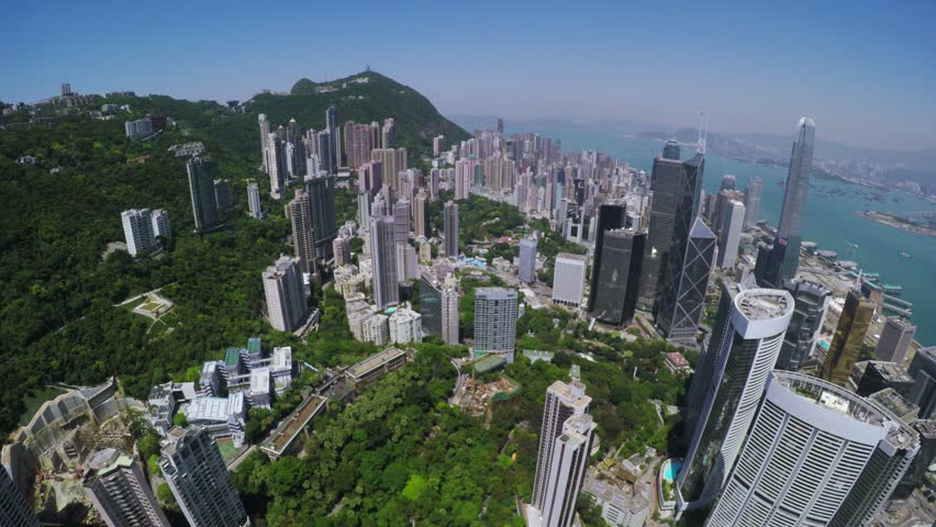 City Aerial 4K Hong Kong Island